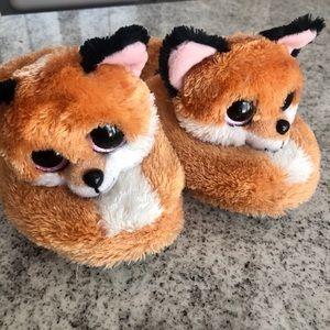 Beanie Boo Fox Slippers